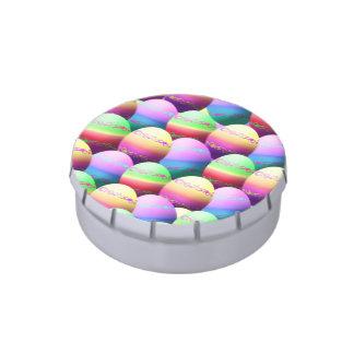 Favores de fiesta coloridos de los huevos de frascos de caramelos