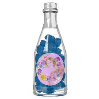 Favores de la botella de Champán de la goma azul