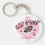Favores de la fiesta de cumpleaños de Las Vegas Llaveros