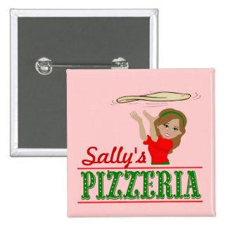 Favores del botón del fiesta de la pizza