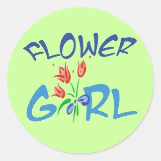 Favores del florista pegatina redonda