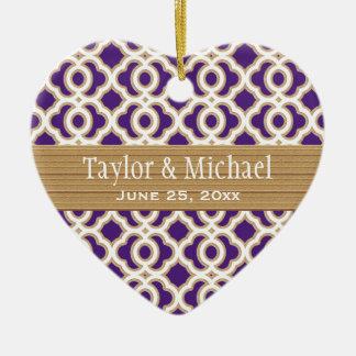 Favores del ornamento del boda de la púrpura y del ornatos