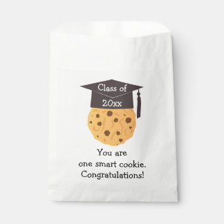 Favores elegantes de la graduación de la galleta bolsa de papel