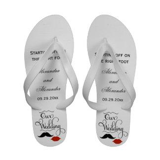 Favores femeninos de la sandalia del flip-flop de
