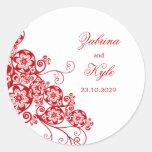 Favores florales elegantes del boda de Boho Paisle Etiqueta Redonda