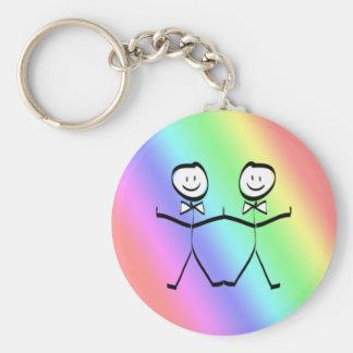Favores gay del boda del orgullo del arco iris llavero redondo tipo pin