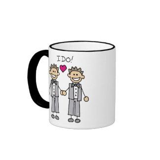 Favores gay del boda tazas de café