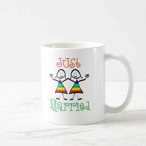 Favores lesbianos del boda taza