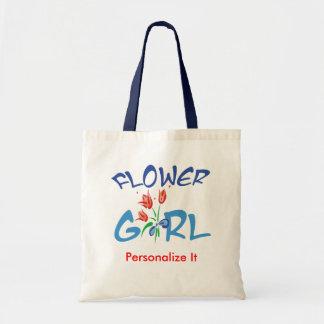 Favores personalizados del florista bolsa tela barata