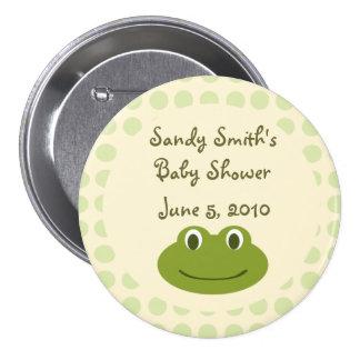 Favores poner crema y verdes del botón de la fiest pin redondo de 3 pulgadas
