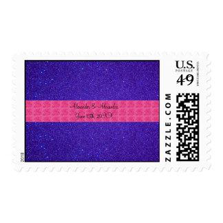 Favores púrpuras del boda del brillo envio