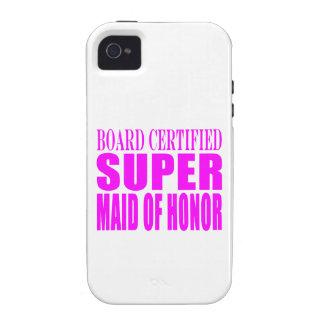 Favores rosados del boda: Criada del honor estupen iPhone 4/4S Carcasas