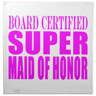 Favores rosados del boda: Criada del honor estupen Servilletas Imprimidas