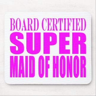 Favores rosados del boda: Criada del honor estupen Tapetes De Ratones