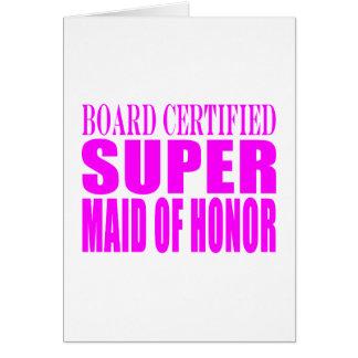 Favores rosados del boda: Criada del honor estupen Felicitaciones
