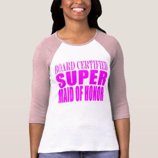 Favores rosados del boda: Criada del honor Camisetas