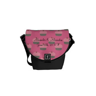 Favores rosados del boda de la magdalena bolsa de mensajeria
