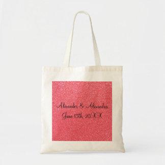 Favores rosados del boda del brillo bolsas