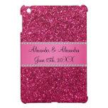 Favores rosados del boda del brillo iPad mini carcasas