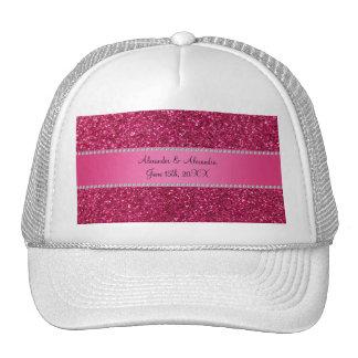 Favores rosados del boda del brillo gorros