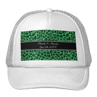 Favores verdes del boda del modelo del leopardo gorro de camionero
