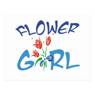 Favores y camisetas del florista tarjeta postal