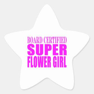 Favores y gracias rosados del boda: Florista Pegatinas Forma De Estrella Personalizadas