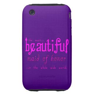 Favores y símbolos de los bodas Criada del honor Tough iPhone 3 Carcasas