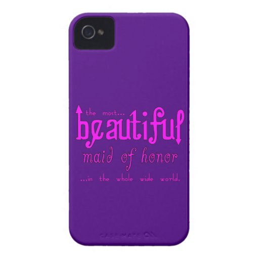 Favores y símbolos de los bodas: Criada del honor  Case-Mate iPhone 4 Protector