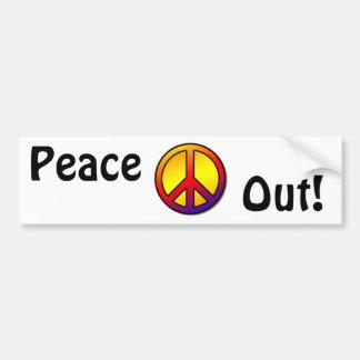 favorite 60's Clean Peace Sign 1 Car Bumper Sticker