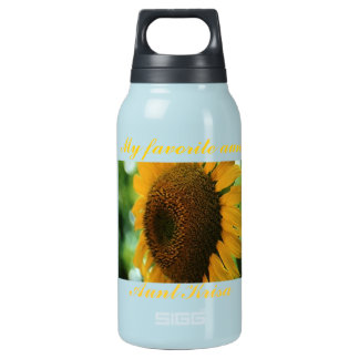 favorite aunt sunflower insulated water bottle