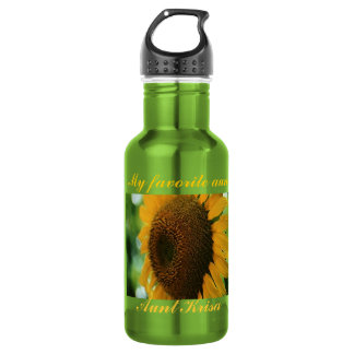 favorite aunt sunflower stainless steel water bottle
