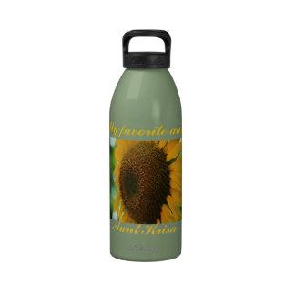 favorite aunt sunflower water bottle