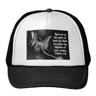 FAVORITE  BIBLE SCRIPTURE PSALM 17:8 TRUCKER HAT