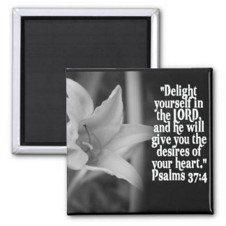 FAVORITE  BIBLE SCRIPTURE PSALM 37:4 2 INCH SQUARE MAGNET
