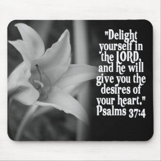FAVORITE  BIBLE SCRIPTURE PSALM 37:4 MOUSE PAD