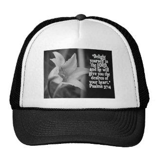 FAVORITE  BIBLE SCRIPTURE PSALM 37:4 TRUCKER HAT