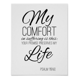 Favorite Bible Verse Psalm 119:50 Poster