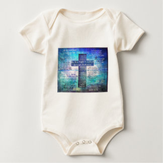 Favorite Bible Verses with Christian Cross Baby Bodysuit