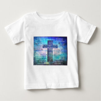 Favorite Bible Verses with Christian Cross Baby T-Shirt