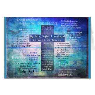 Favorite Bible Verses with Christian Cross Card
