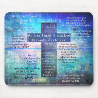 Favorite Bible Verses with Christian Cross Mouse Pad