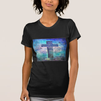 Favorite Bible Verses with Christian Cross T-Shirt