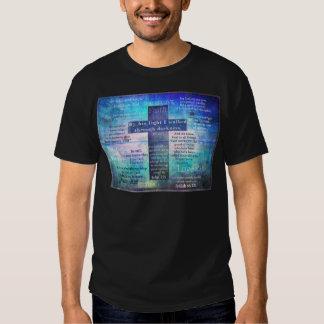 Favorite Bible Verses with Christian Cross Tee Shirt