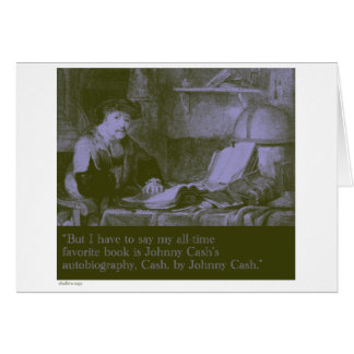 favorite book stationery note card