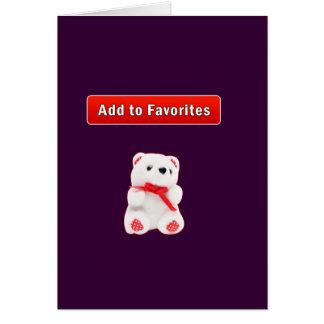 Favorite bookmark greeting card