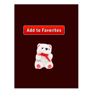 Favorite bookmarks postcard