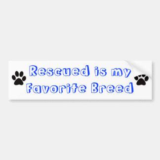 Favorite breed bumper sticker