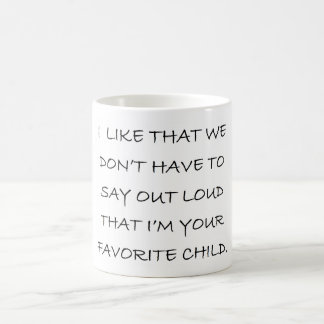 FAVORITE CHILD CLASSIC WHITE COFFEE MUG