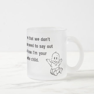 Favorite Child Custom Frosty! Frosted Glass Coffee Mug